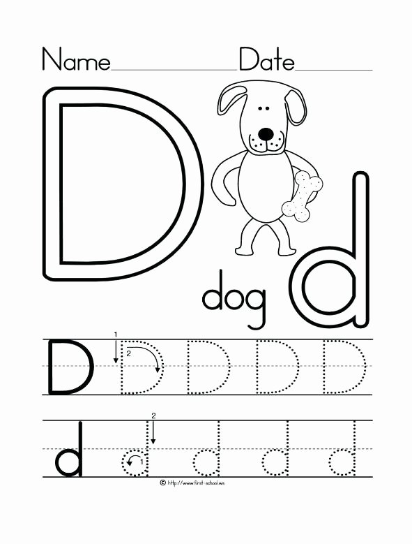 Letter D Tracing Worksheets for Preschoolers Printable 26 Learner Friendly Letter D Worksheets