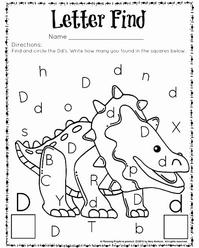 Letter Find Worksheets for Preschoolers Kids Cute Letter Find Worksheets with A Freebie Planning Playtime