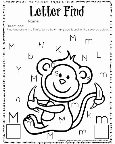 Letter Find Worksheets for Preschoolers Lovely Cute Letter Find Worksheets with A Freebie Planning Playtime
