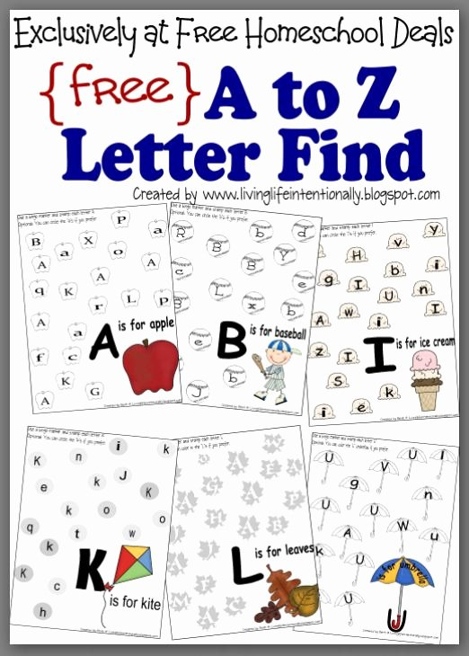 Letter Find Worksheets for Preschoolers Lovely Free Instant Download Plete A to Z Letter Find Worksheet