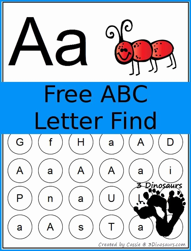 Letter Find Worksheets for Preschoolers New Free Abc Letter Find Printable 3dinosaurs
