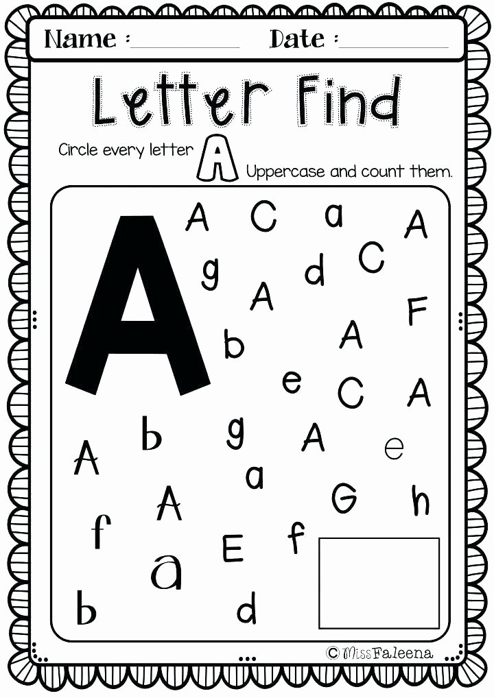 Letter Find Worksheets for Preschoolers Printable Worksheet Preker Worksheets Printable J Tracing for