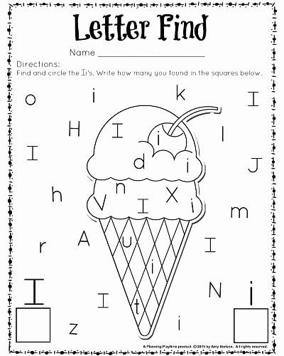 Letter I Worksheets for Preschoolers Best Of Cute Letter Find Worksheets with A Freebie Planning Playtime