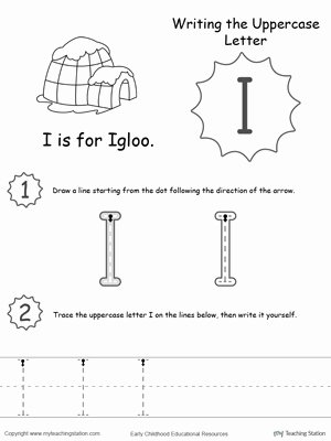 Letter I Worksheets for Preschoolers Lovely Worksheet isheets for Kindergarten Writing Uppercase