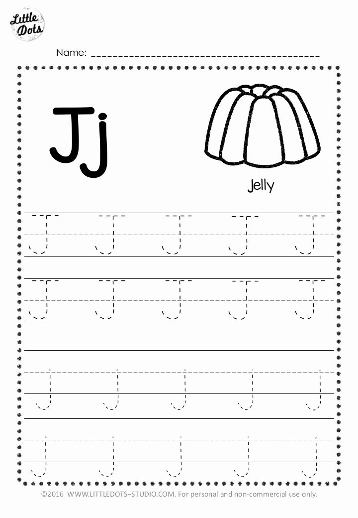 Letter J Worksheets for Preschoolers New Free Letter J Tracing Worksheets