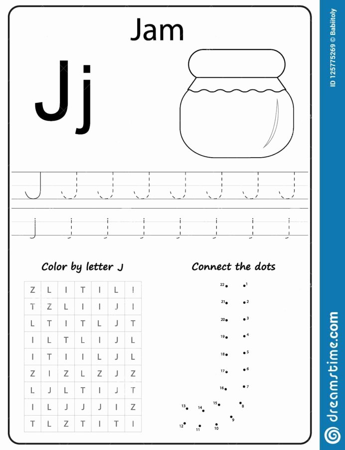 Letter J Worksheets for Preschoolers top Writing Letter Worksheet Alphabet Exercises Game for Kids