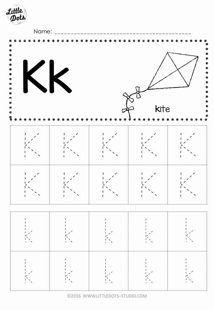 Letter K Worksheets for Preschoolers Inspirational Free Letter K Tracing Worksheets
