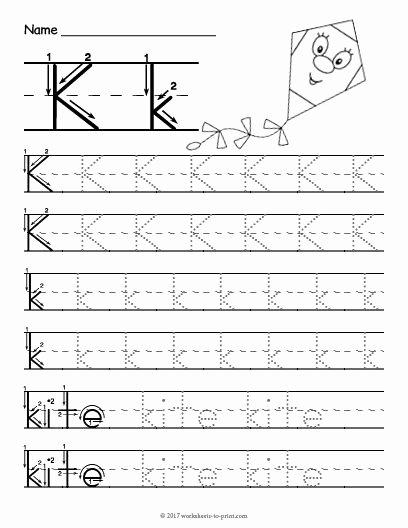 Letter K Worksheets for Preschoolers New Free Printable Tracing Letter K Worksheet