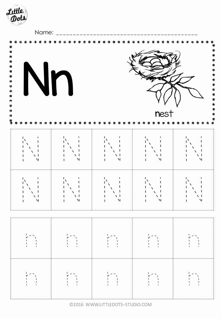 Letter N Worksheets for Preschoolers Free Free Letter N Tracing Worksheets