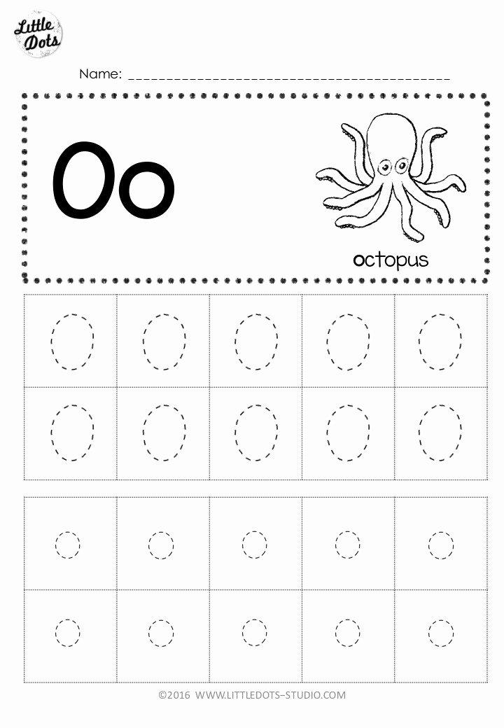Letter O Worksheets for Preschoolers Inspirational Free Letter Oo Tracing Worksheets
