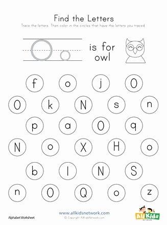 Letter O Worksheets for Preschoolers Kids Find the Letter O Worksheet