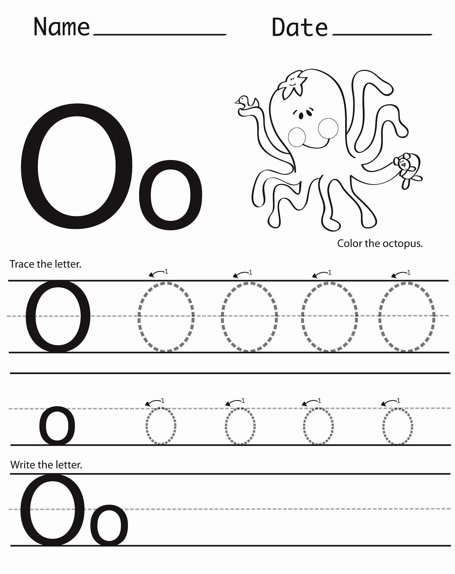 Letter O Worksheets for Preschoolers Kids Letter O Worksheets for Preschool