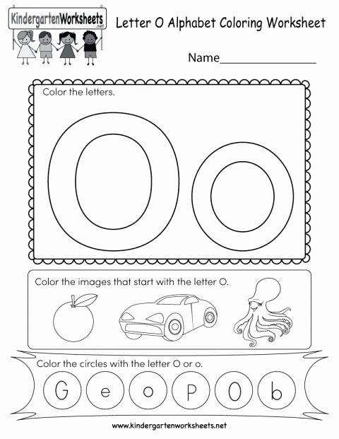 Letter O Worksheets for Preschoolers Lovely 9 Letter O Worksheet Preschool Pattern