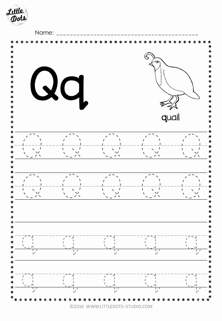 Letter Q Worksheets for Preschoolers Fresh Free Letter Q Tracing Worksheets