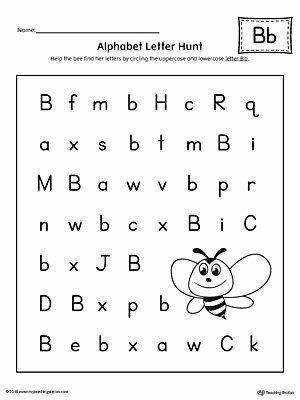 Letter Recognition Worksheets for Preschoolers Lovely Alphabet Letter Hunt Letter B Worksheet