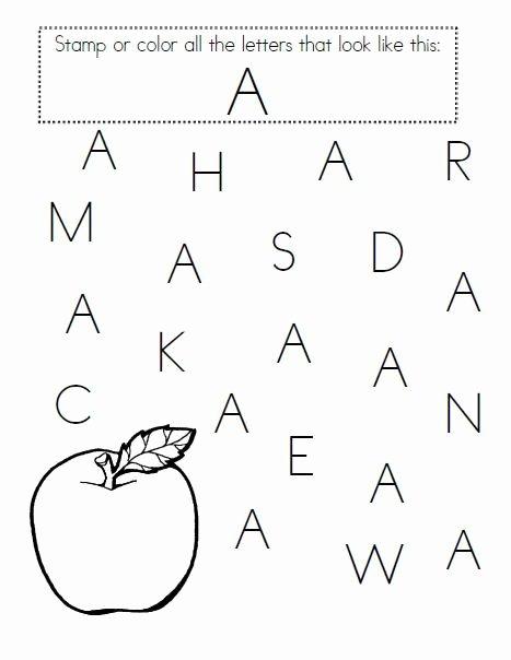 Letter Recognition Worksheets for Preschoolers top Worksheet Letter Worksheets for Preschool