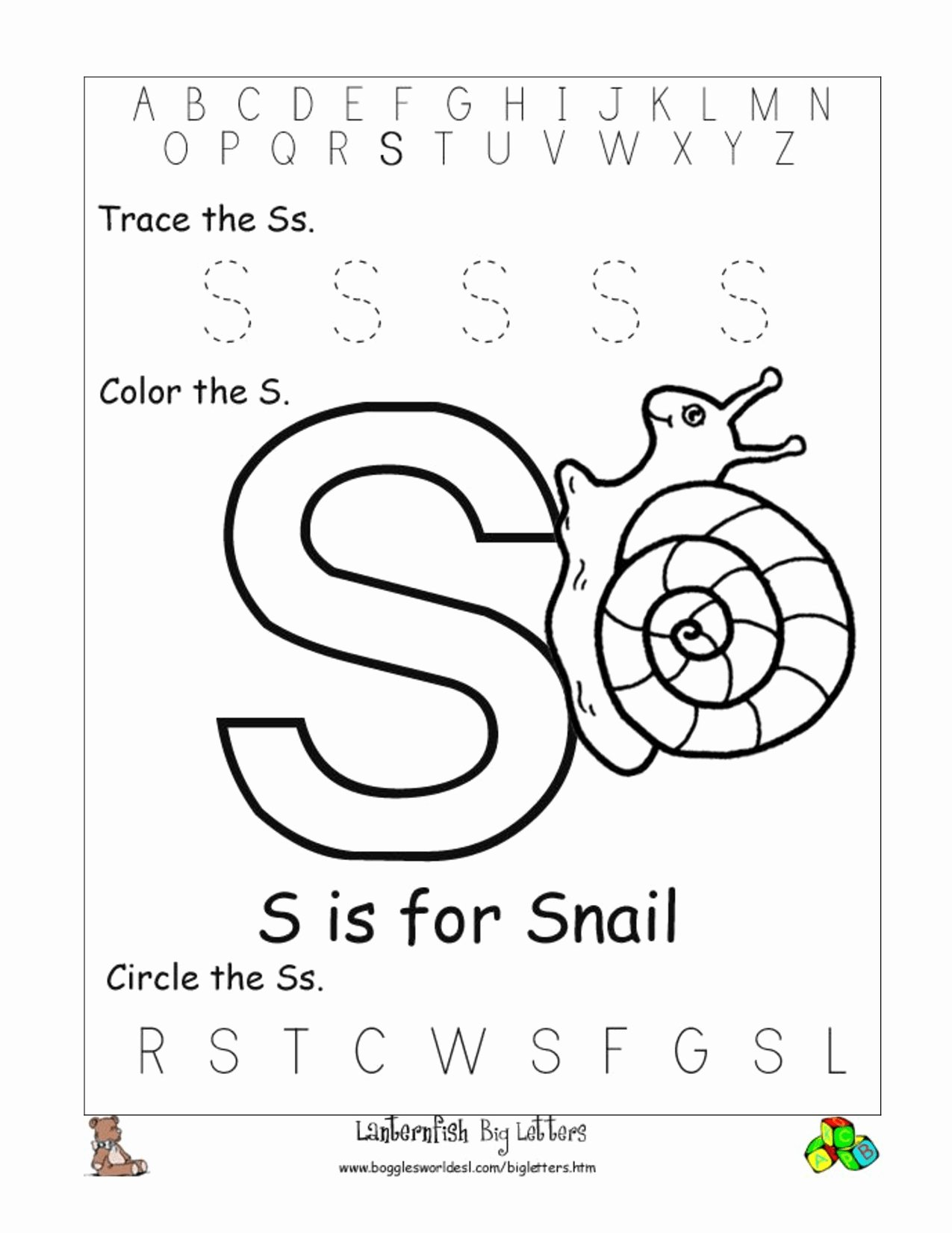 Letter S Worksheets for Preschoolers Best Of Worksheet Junior Kg