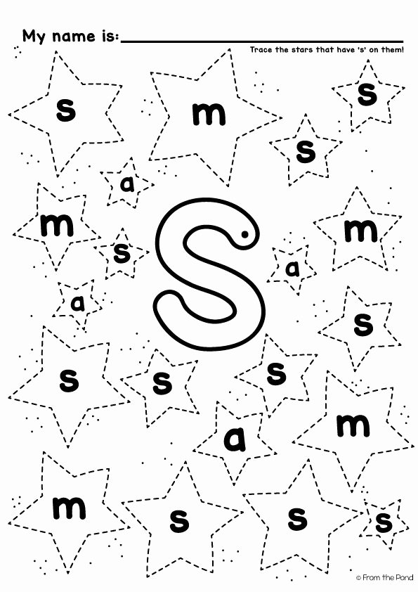 Letter S Worksheets for Preschoolers Printable Let S Learn the Letter sound S