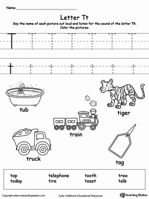 Letter T Worksheets for Preschoolers Inspirational Words Starting with Letter T