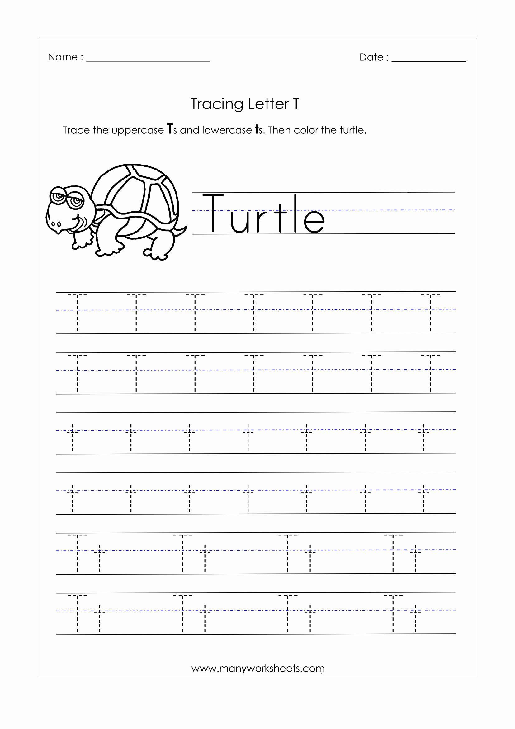 Letter T Worksheets for Preschoolers top Math Worksheet Phenomenal Alphabet Writing Worksheetsor