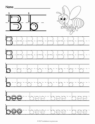 Letter Tracing Worksheets for Preschoolers Free Ideas Free Printable Tracing Letter B Worksheet