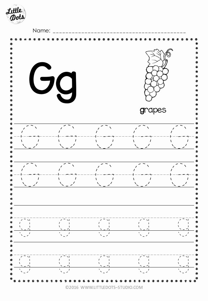 Letter Tracing Worksheets for Preschoolers Free Inspirational Free Letter G Tracing Worksheets