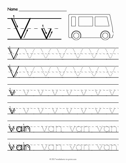 Letter V Worksheets for Preschoolers New Trace and Write the Letter V Worksheets