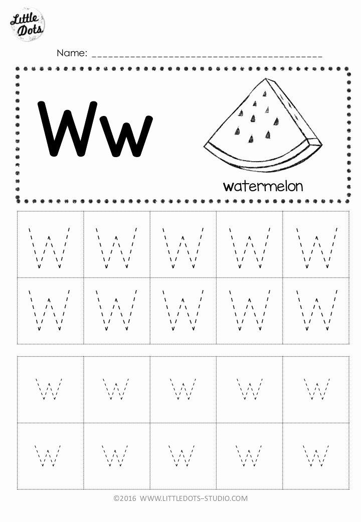 Letter W Worksheets for Preschoolers Inspirational Free Letter W Tracing Worksheets