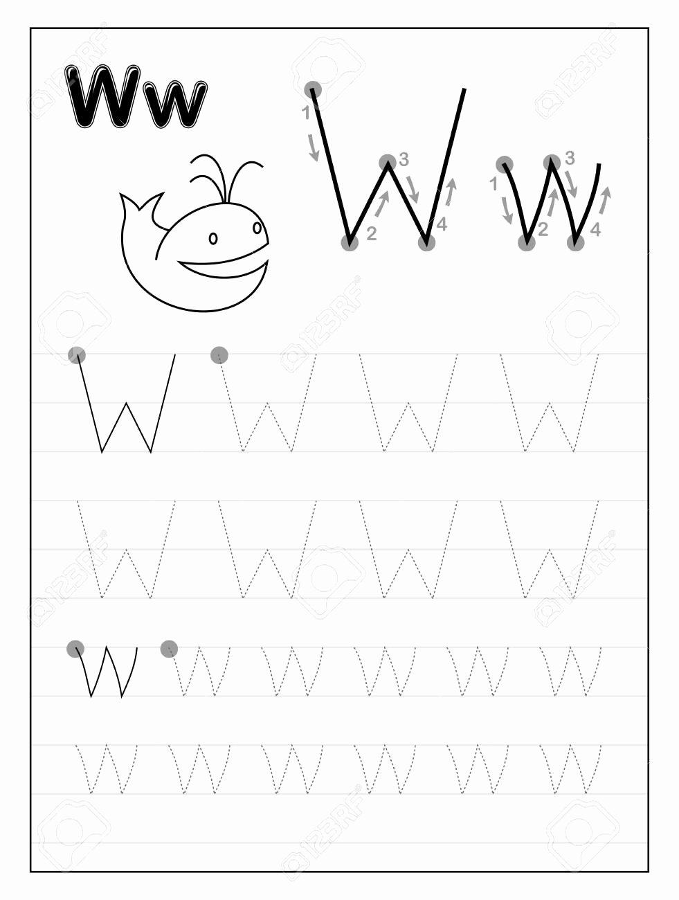 Letter W Worksheets for Preschoolers Kids Worksheet Dotted Alphabet Worksheets Worksheet Ideas