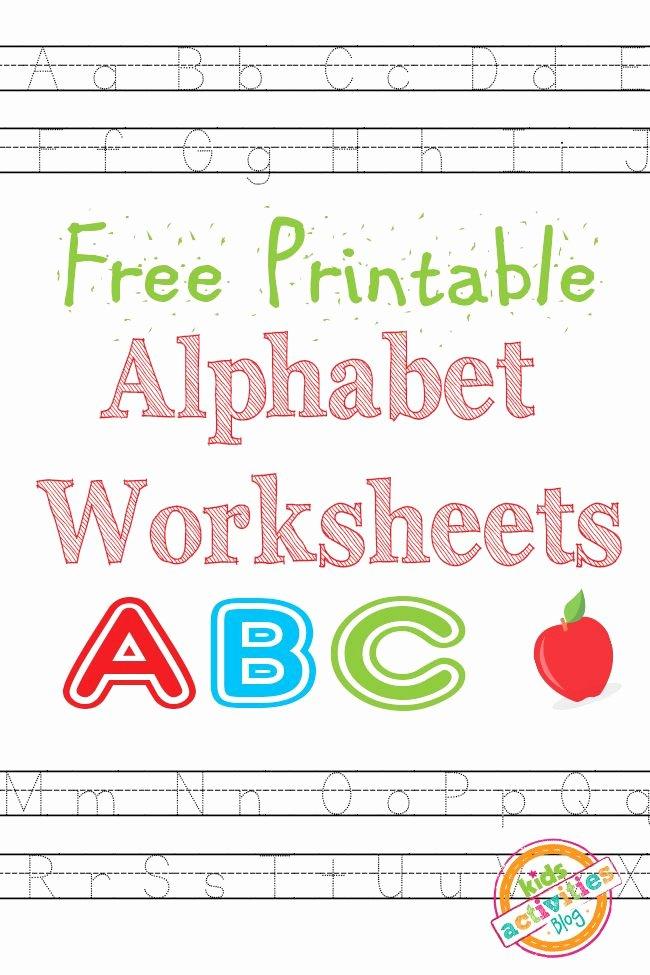 Letter Worksheets for Preschoolers Free Fresh Free Printable Alphabet Worksheets