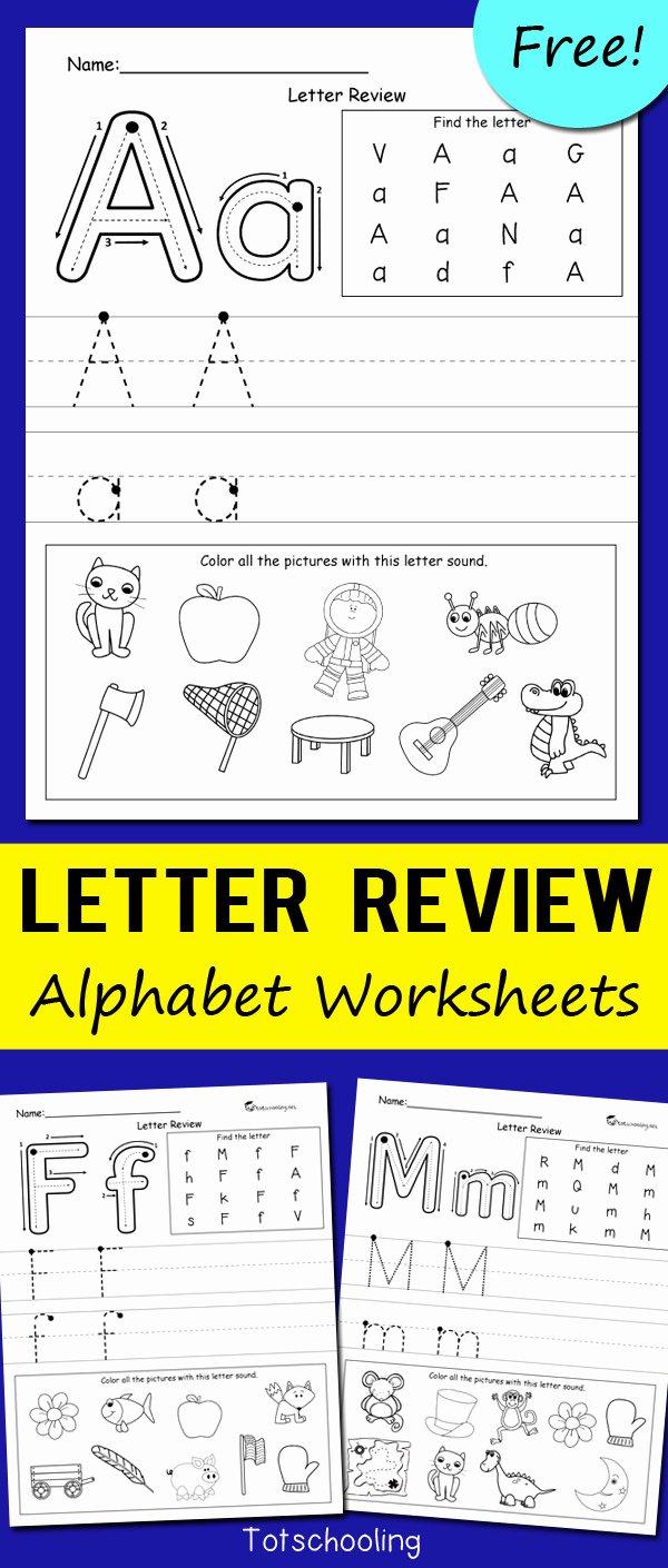 Letter Worksheets for Preschoolers Free Inspirational Worksheet Preschool Learningintables Letter Review