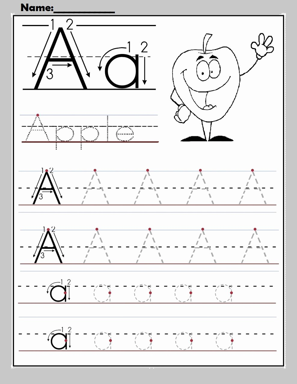 Letter Worksheets for Preschoolers Free New Worksheet Free Alphabet Worksheets to Print for Apple