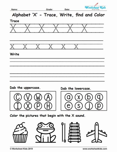 Letter X Worksheets for Preschoolers Best Of Alphabet Letter X Trace Write Find Color Free Printable Pdf