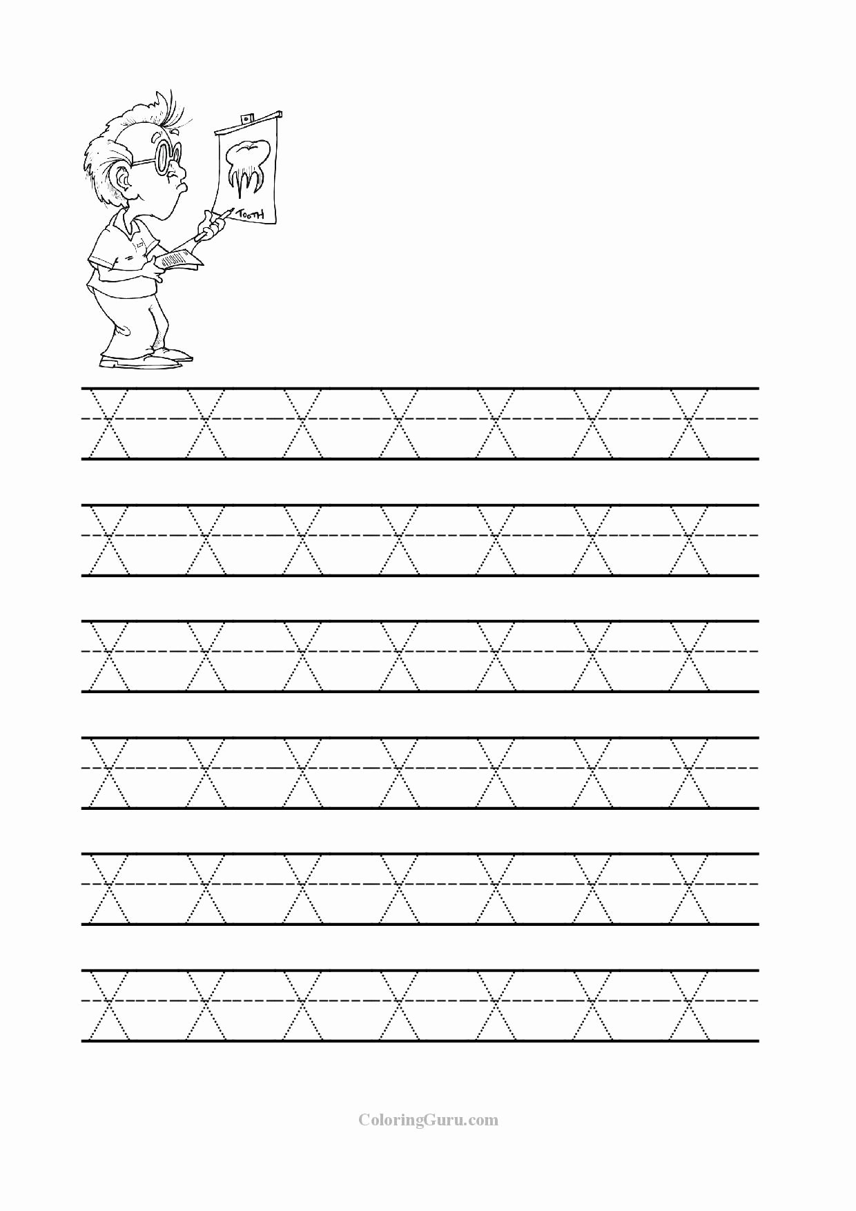 Letter X Worksheets for Preschoolers Kids Free Printable Tracing Letter X Worksheets for Preschool