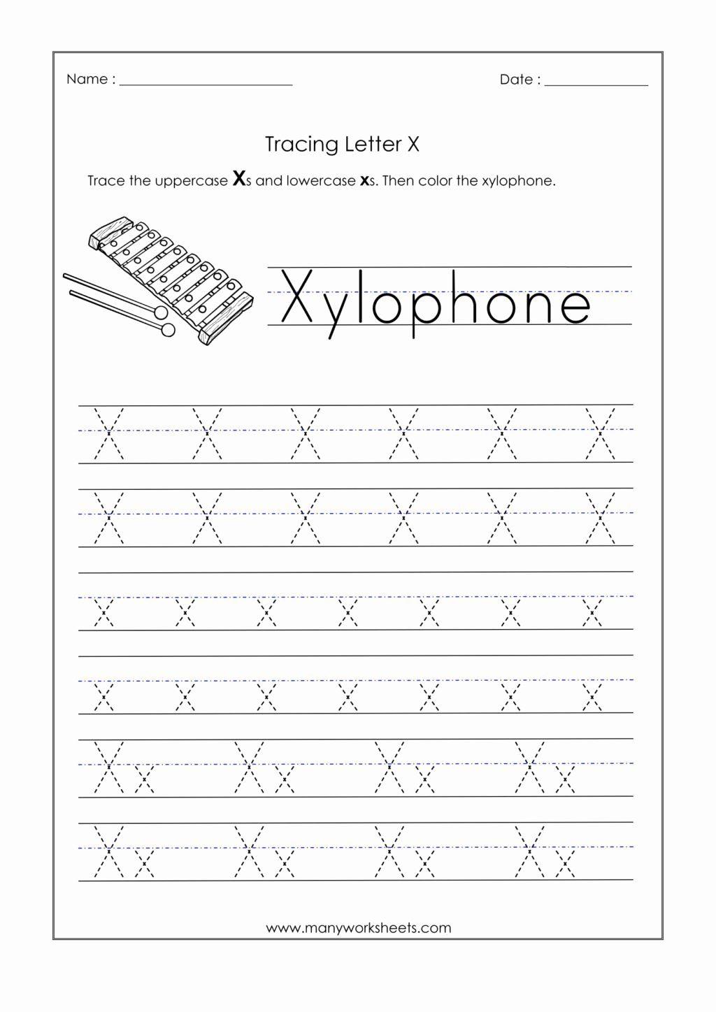 Letter X Worksheets for Preschoolers Kids Worksheet Alphabetiting Sheets Letter X Tracing Worksheet