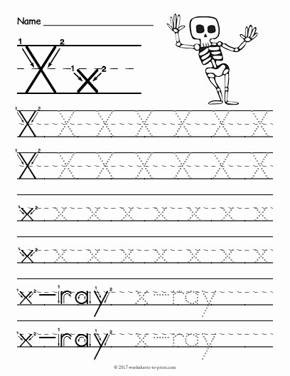 Letter X Worksheets for Preschoolers Lovely Free Printable Tracing Letter X Worksheet