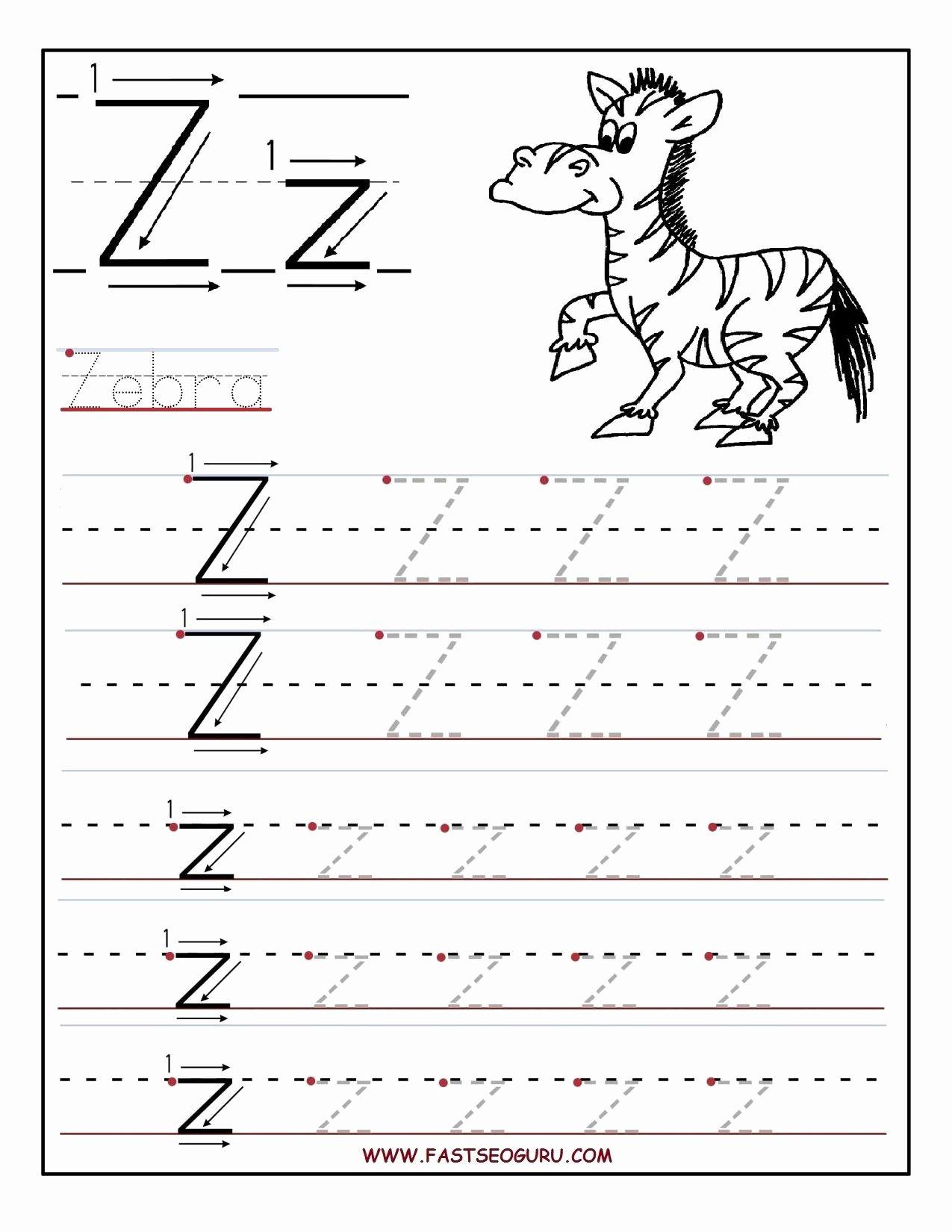 Letter Z Worksheets for Preschoolers Free Printable Letter Z Tracing Worksheets for Preschool