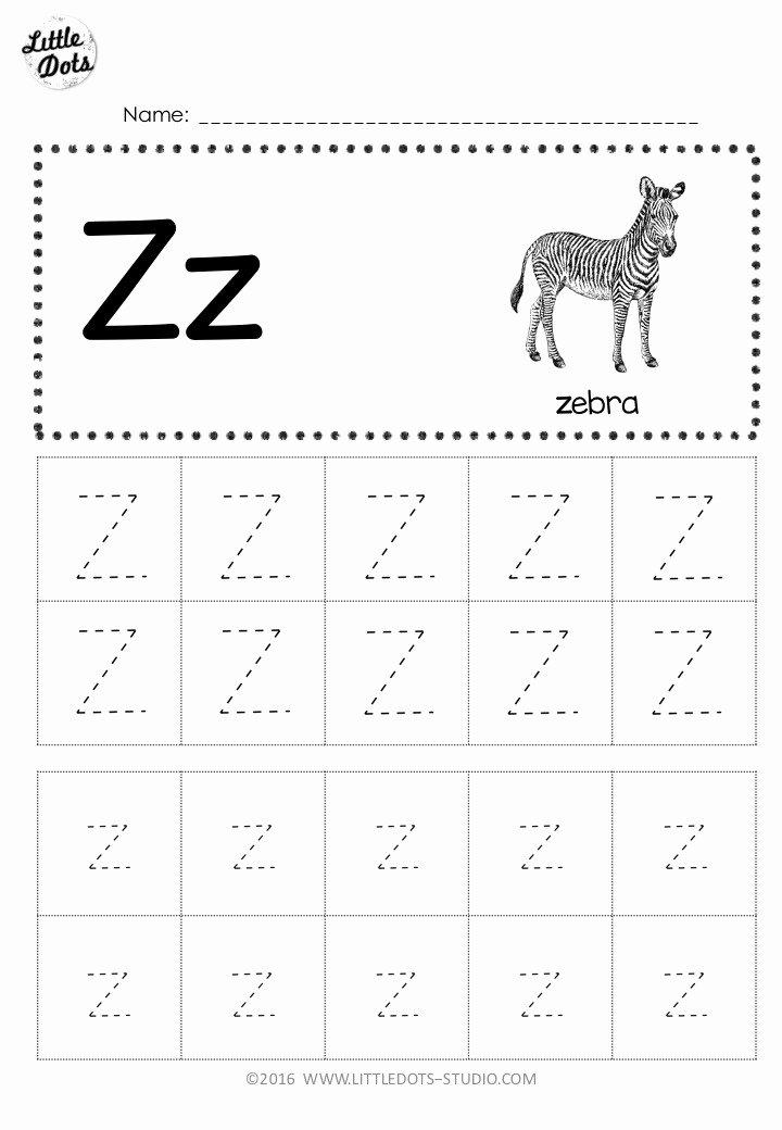 Letter Z Worksheets for Preschoolers Inspirational Free Letter Z Tracing Worksheets