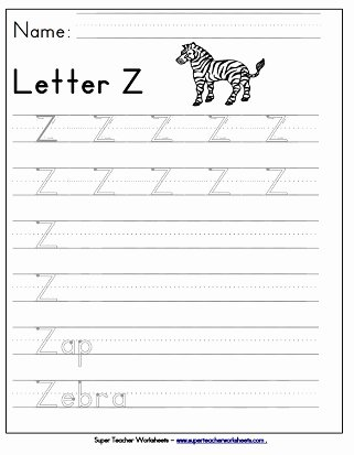 Letter Z Worksheets for Preschoolers Printable Letter Z Worksheets Recognize Trace & Print