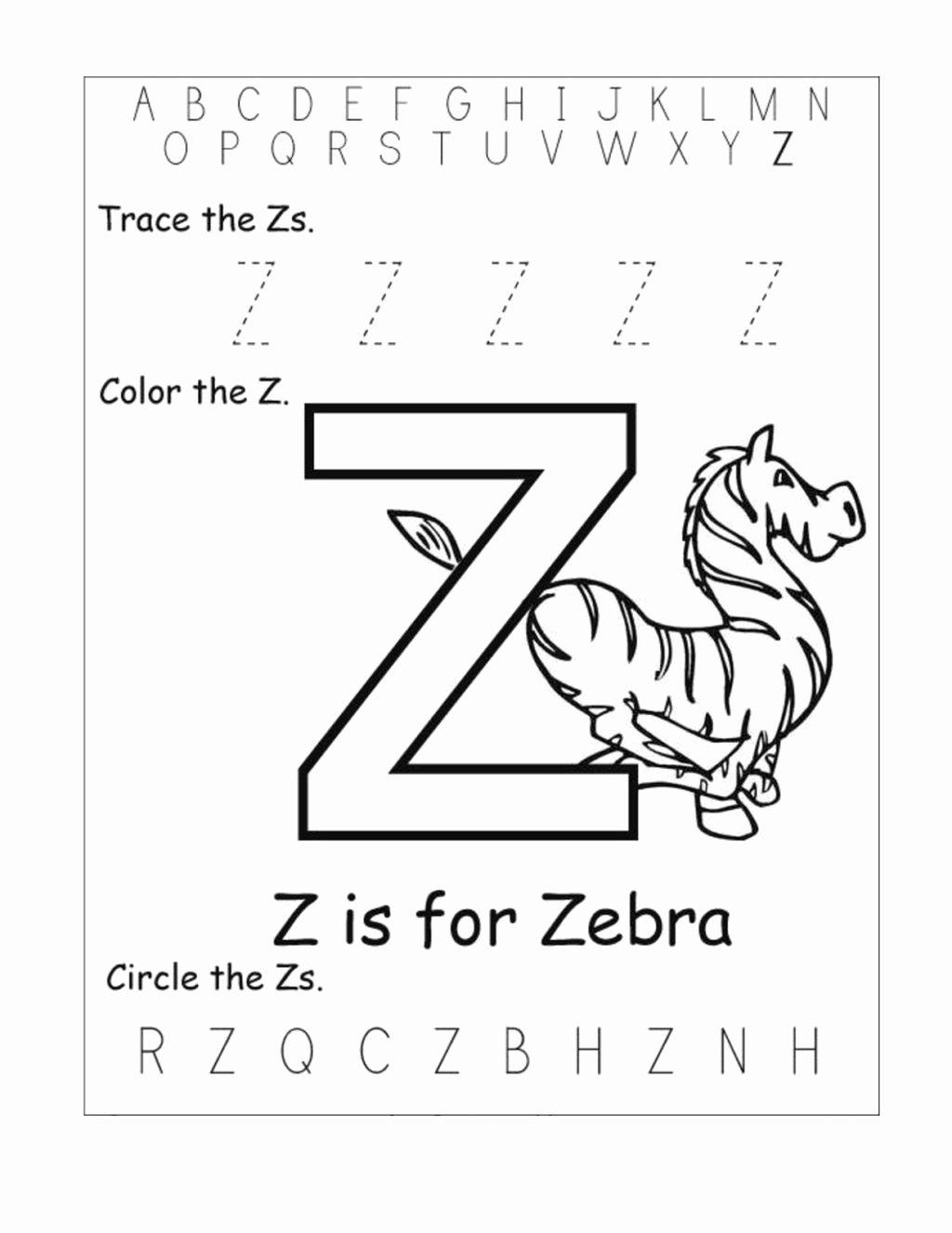 Letter Z Worksheets for Preschoolers top Worksheet Letter Z Worksheets Kids Learning Activity