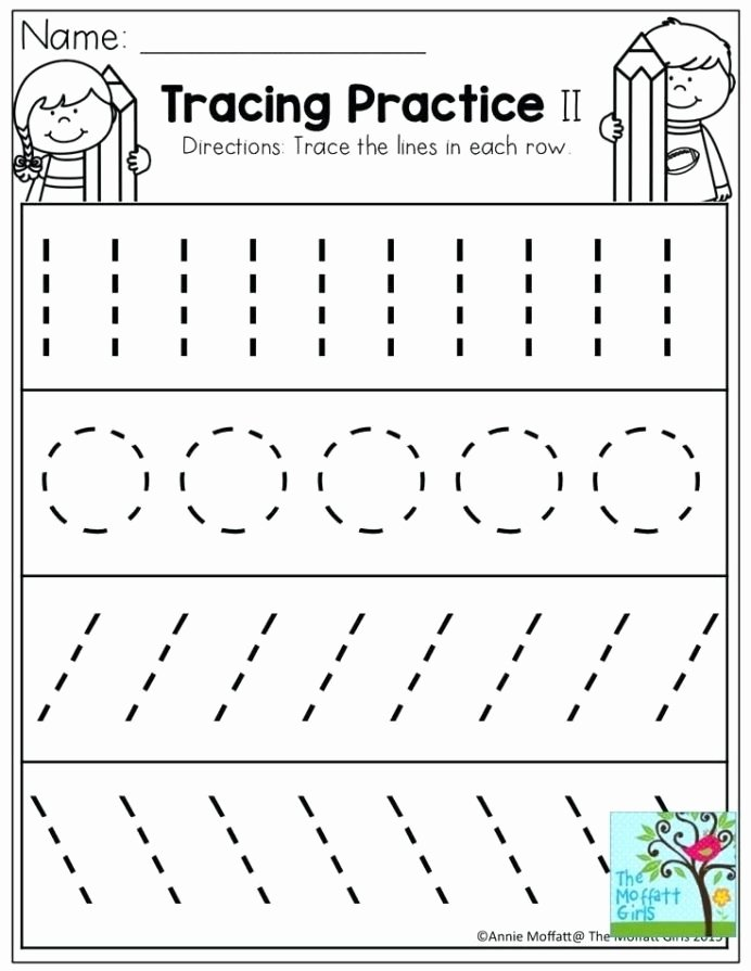 Line Tracing Worksheets for Preschoolers Lovely Pre Writing Strokes Worksheets tons Printable for Line