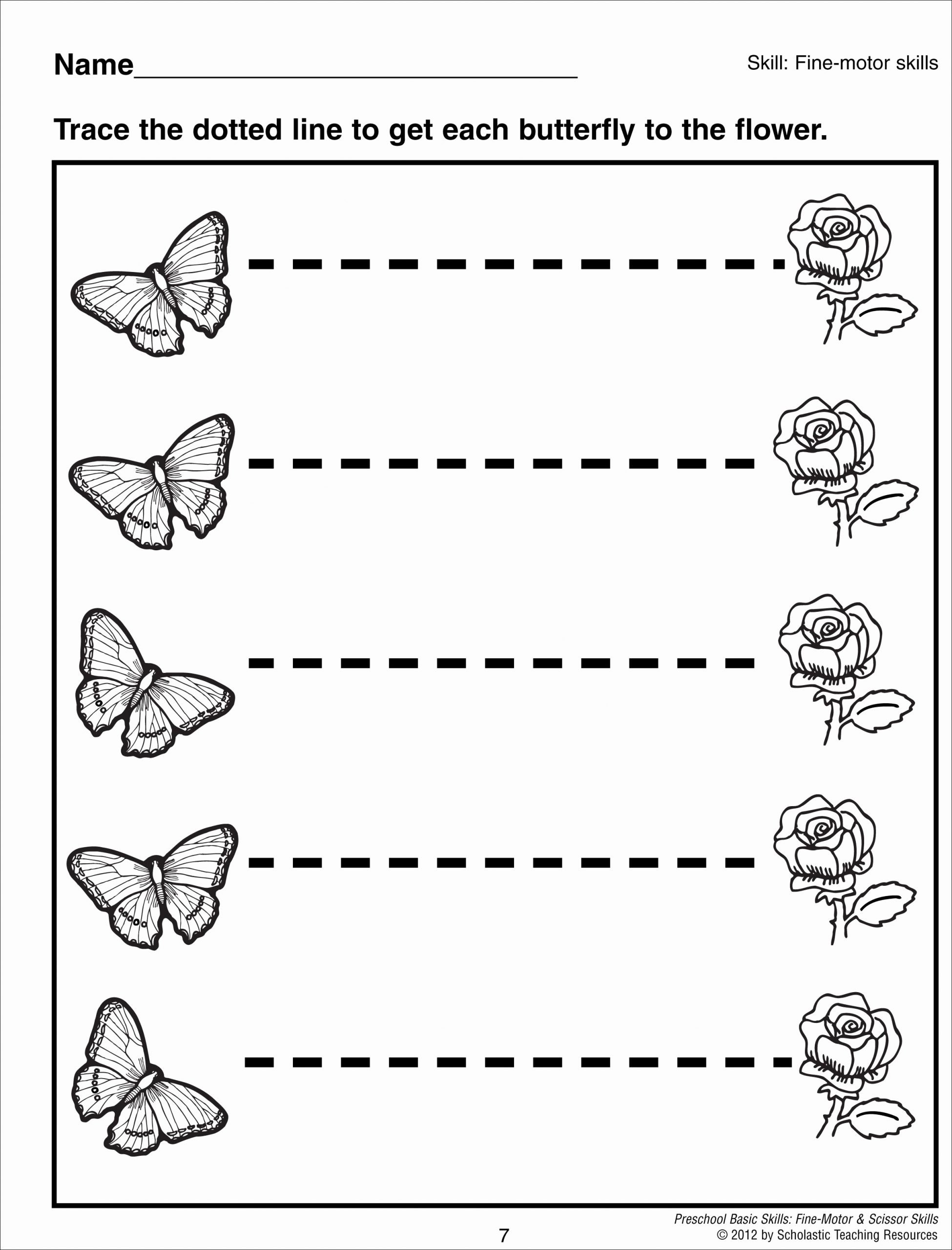 Line Tracing Worksheets for Preschoolers Lovely Tracing Horizontal Lines Preschool Basic Skills Fine Motor