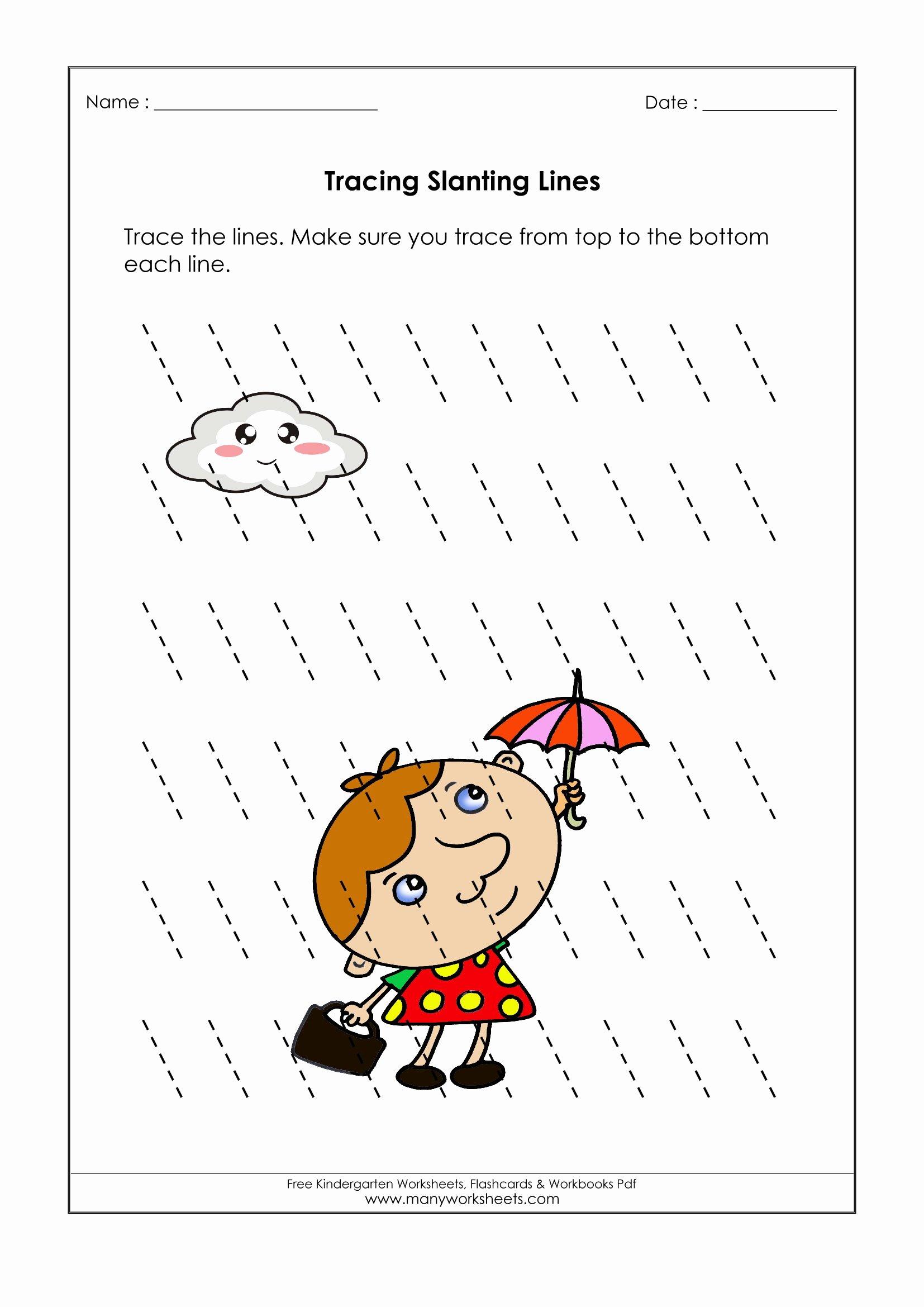 Line Tracing Worksheets for Preschoolers New Sleeping Standing Lines Worksheet Printable Worksheets and
