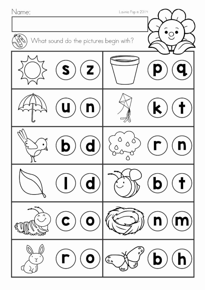 Literacy Worksheets for Preschoolers Printable Spring Kindergarten Math and Literacy Worksheets Activities