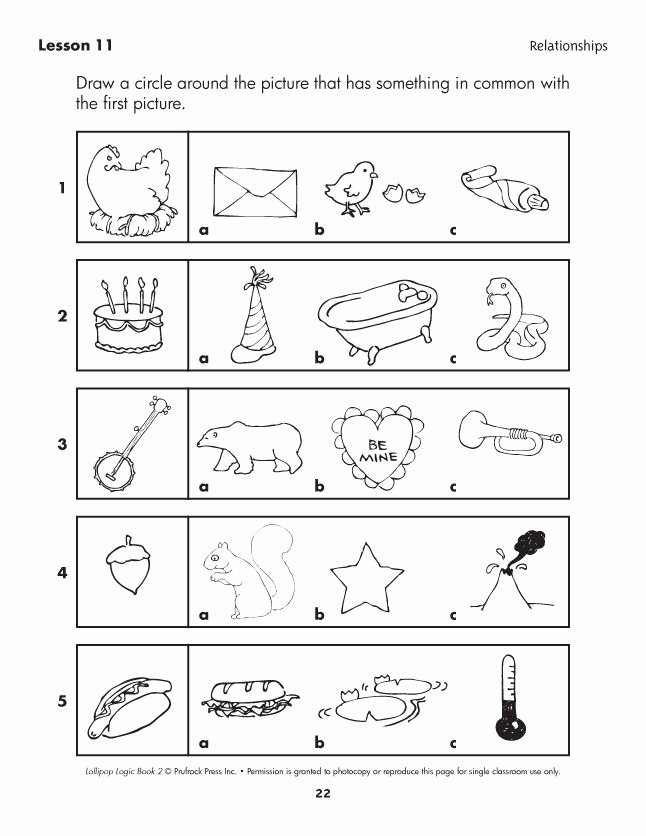 Logical Reasoning Worksheets for Preschoolers Fresh Lollipop Logic Critical Thinking Activities