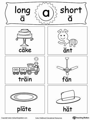 Long Vowels Worksheets for Preschoolers Printable Early Childhood Reading Worksheets