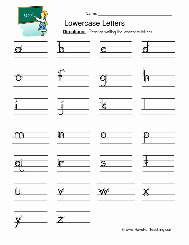 Lowercase Letters Worksheets for Preschoolers Kids Worksheet Lowercase Letters Worksheet Free Alphabet