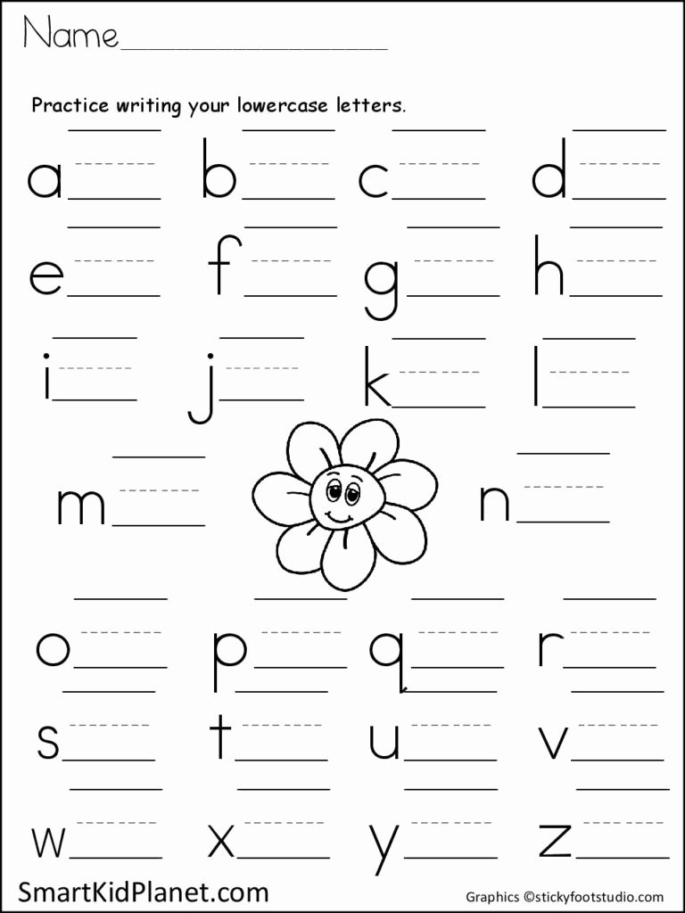 Lowercase Letters Worksheets for Preschoolers New Print Practice Lowercase Letters Spring Flower – Smart Kid