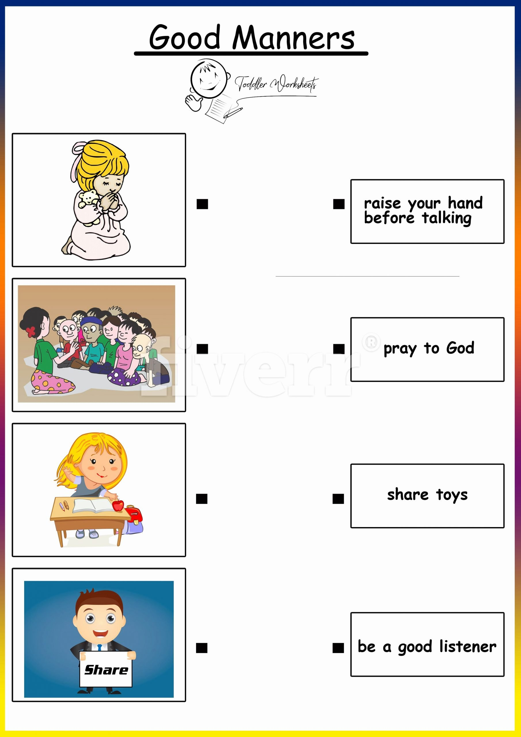 Manners Worksheets for Preschoolers Free Preschool Free Worksheets Good Manners