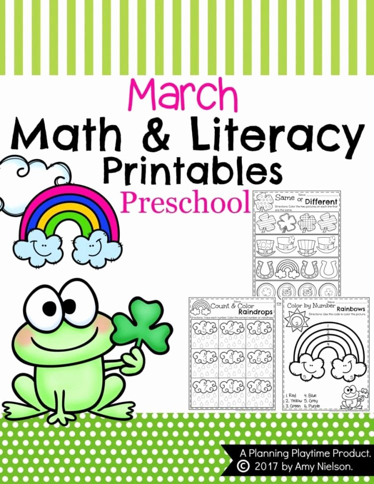 March Worksheets for Preschoolers Fresh March Preschool Worksheets